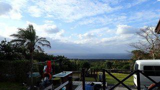 冷たい風は変わらずだが早めのうちは青空も広がっていた11/25の八丈島