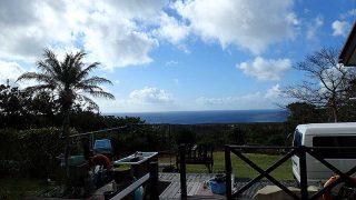 次第に青空広がって暖かな陽気となっていた11/28の八丈島