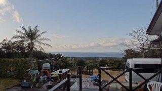 日中青空広がるが朝夕雲は多くもあった1/20の八丈島