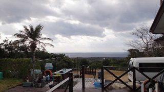 西風強まり落ち着かない空模様となっていた1/23の八丈島