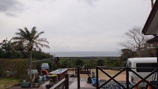 雲も広がりゆっくり天気は下り坂だった2/1の八丈島