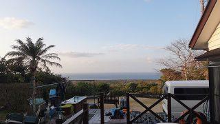 風は弱まり穏やかな天気となっていた2/16の八丈島