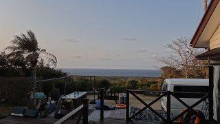 青空広がり爽やかな天気となっていた2/19の八丈島