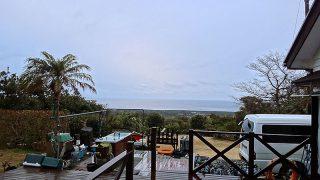 明け方雨は降るものの日中は青空広がり暖かだった2/20の八丈島