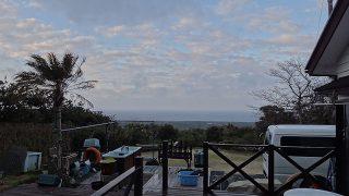 雲は広がり湿度も上がり若干蒸し暑さもあった3/5の八丈島