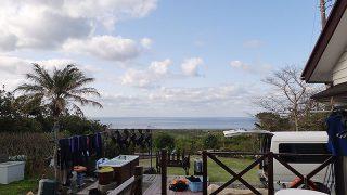 明け方冷えるが日中は気温も上がり暖かくもなっていた4/1の八丈島