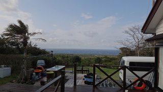 雨は早めに上がりはするが風は強まっていた4/7の八丈島