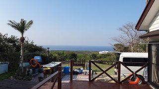 青空広がり風も止み穏やかで暖かな一日となっていた4/10の八丈島