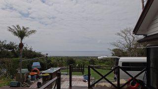 空には雲が広がるものの風は穏やかになっていた4/23の八丈島