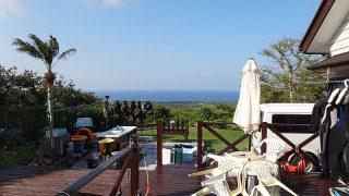 強い日差しも戻ってきており青空広がっていた5/1の八丈島