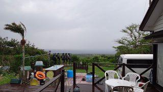 降る雨すぐに上がってきていて青空も広がってきていた5/4の八丈島