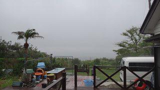 朝からしっかり雨も降りグズついて涼しくなってた5/8の八丈島