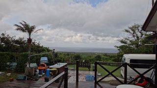 降る雨強いが早めに上がり青空も戻ってきていた5/14の八丈島