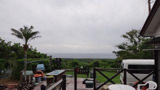 パラパラと時間ともに雨も降りだしてきていた5/26の八丈島
