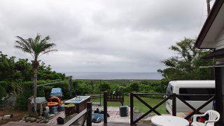 雲は広がりパラパラと雨も降りだしてきていた5/30の八丈島