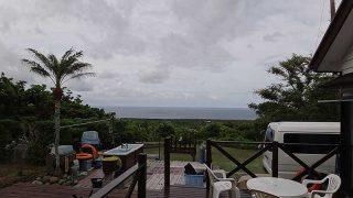 雲は広がりパラパラと雨も降ってきていた6/4の八丈島