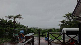 強まる雨はあるものの風はそんなに吹いてはこなかった6/11の八丈島