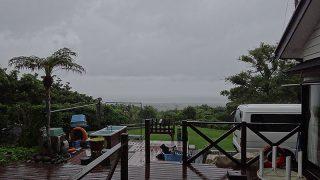 雨風次第に強まって荒れた天気となっていた6/15の八丈島