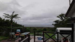 風は次第に弱まるが雲は広がっていた6/19の八丈島