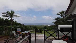 低い雲はあるものの青空も見られていた6/28の八丈島