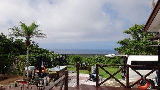 雲が多い時間帯もあるが暑さ厳しく青空も広がっていた7/2の八丈島