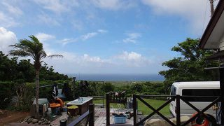 湿度も上がり雲は増えるが青空も見られていた7/5の八丈島