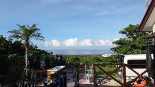 若干雲はあるものの青空続いていた7/11の八丈島