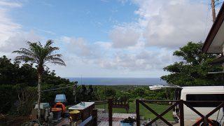 少し雲はあるものの引き続き青空広がっていた7/12の八丈島