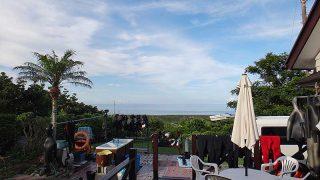 少し雲はあるものの青空広がり暑さも続いていた7/17の八丈島