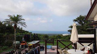 風は弱くて青空広がり暑さが増してもいた8/6の八丈島