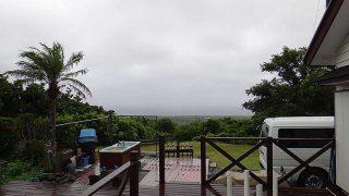 雨は次第に強まって涼しくもなっていた8/8の八丈島