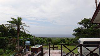 風も次第に弱まって青空も戻ってきていた8/9の八丈島
