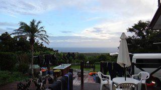 雲は広がりやすくもあるが日中は青空もあった8/12の八丈島
