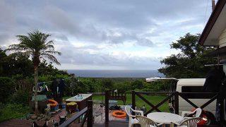 雲も広がり風が変わると涼しくもなってきていた8/17の八丈島