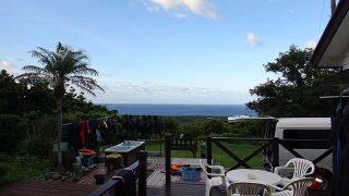 涼しい風が吹き続き爽やかな青空広がっていた8/18の八丈島