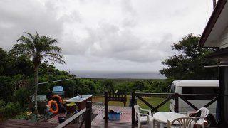 雲も広がり風は涼しくもなっていた9/3の八丈島