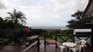 風は強まり涼しくなるが青空も見られていた9/12の八丈島