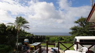 雲は多いが青空あって爽やかな天気となっていた9/13の八丈島