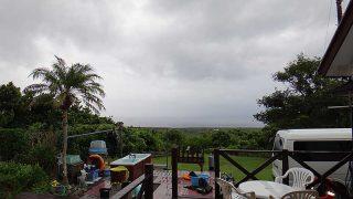 所によっては晴れ間もあるが強い雨も降ってきていた9/14の八丈島