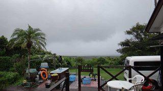 土砂降りの雨も降ってはいるが午後は雨も止んでいた9/21の八丈島