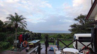 一時強めの雨降ってもいたが青空広がってきていた9/24の八丈島