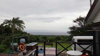 涼しくなって雲も広がりスッキリしない空模様だった10/3の八丈島