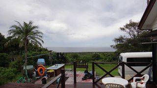 雨風次第に強まって天気は荒れてきていた10/13の八丈島