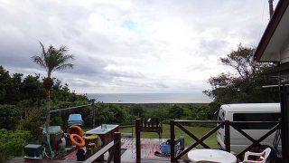 朝晩涼しく日中は雨も降ってきていた10/16の八丈島