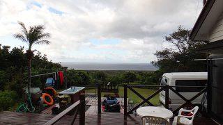 日中雨は激しくなってクズつく空模様が続いていた10/19の八丈島