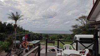 雲は広がり日差しも弱めで涼しい一日となっていた11/1の八丈島