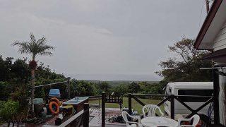 雨は降ったり止んだりでグズついた空模様となっていた11/3の八丈島