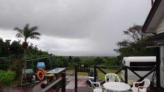 雨風次第に強まってグズついた空模様となっていた11/7の八丈島