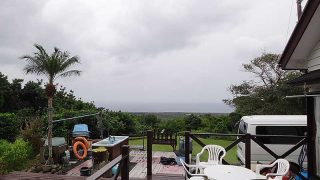 雲は広がり雨も降りだしてきていた11/19の八丈島