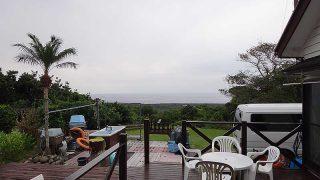 雲は広がり時折雨もパラついてきていた11/28の八丈島